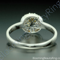 .65 ctw. Round Yellow Sapphire and Diamond Ring - 3