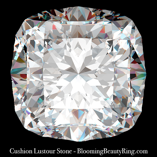 2 ct. Cushion Cut Lustour Stone