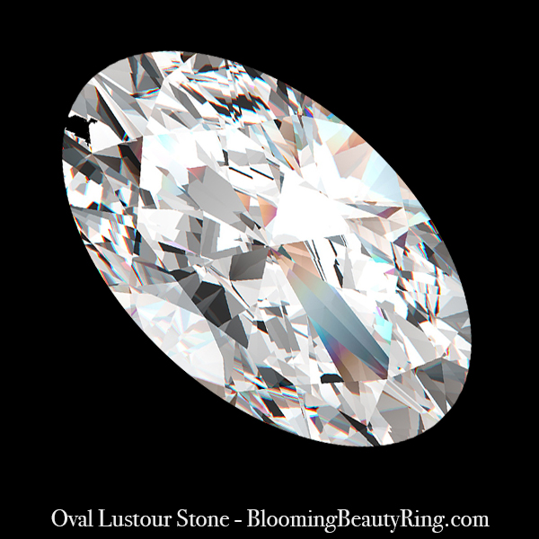 1 ct. Oval Cut Lustour Stone