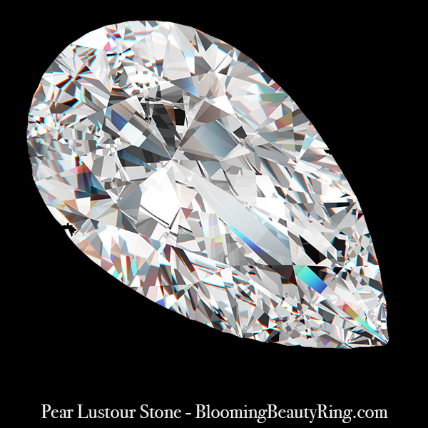 1 ct. Pear Cut Lustour Stone