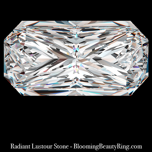 1 ct. Radiant Cut Lustour Stone