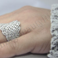 diamond fashion ring on the hand