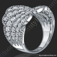 starry nights 3.76 ctw round diamond and white gold fashion ring