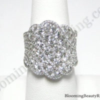 starry nights round diamond white gold fashion ring bbr777