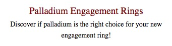 Learn about palladium engagement rings
