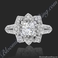 Diamond Princess Lotus Flower Ring