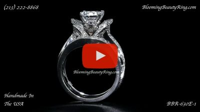 The Original Lotus Swan Double Band Flower Ring Set – bbr630-1 standing up version 2 video