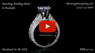 1.40 ctw. 14K Gold Diamond Engagement Ring – nrd411e-1 standing up video