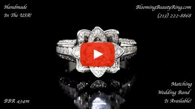 1.38 ctw. Original Small Blooming Beauty Flower Ring – bbr434m laying down video
