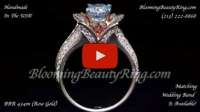 1.38 ctw. Original Small Blooming Beauty Flower Ring – bbr434m rose gold standing up video