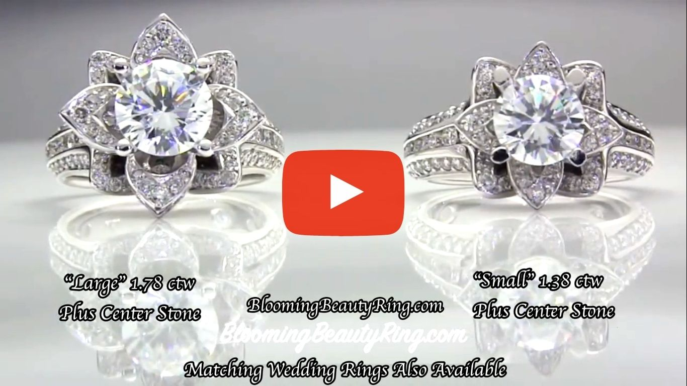 1.78 ctw. Original Large Blooming Beauty Flower Ring – bbr434 compare the large and small version video