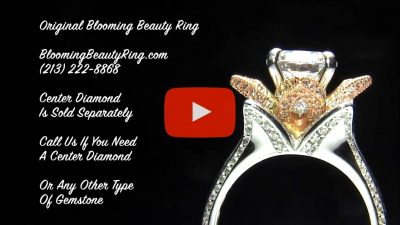 1.78 ctw. Original Large Blooming Beauty Flower Ring – bbr434 two-toned gold video