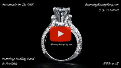 5 Sided 10 Column Engagement Ring – Unlike Anything You Have Ever Seen – with Hundreds Of Diamonds – bbr455 standing up video