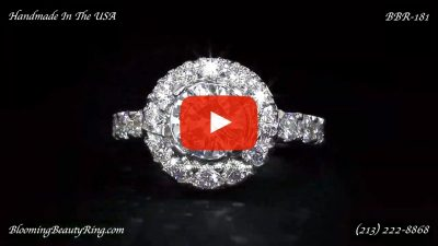 Diamonds and Flowing Lace Engagement Ring – bbr181 laying down video