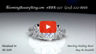 The Eternal Embrace Diamond Engagement Ring – bbr327 laying down video