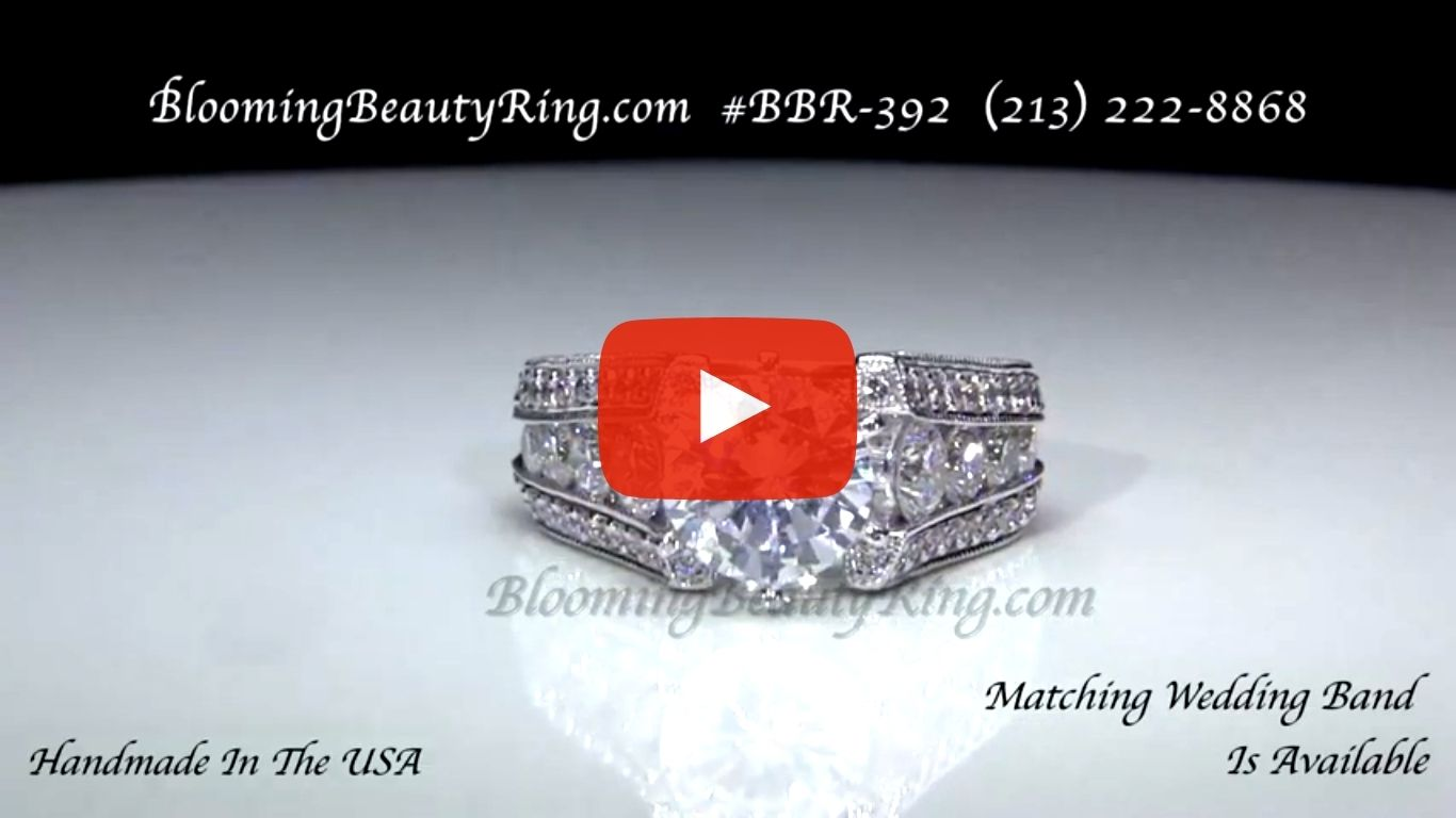 The High Class Escalating Split Shank Diamond Engagement Ring – bbr392 laying down video