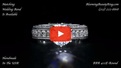 1.40 ctw. 14K Gold Diamond Engagement Ring – nrd411e-1 laying down video