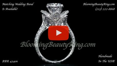1.78 ctw. Large Hand Engraved Blooming Beauty Ring – bbr434en Standing Up Video