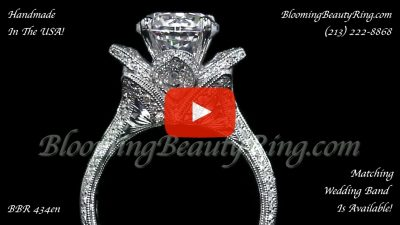 1.78 ctw. Large Hand Engraved Blooming Beauty Ring – bbr434en Close Up Video