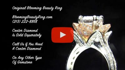 2 38 Ctw Double Band Two Toned White And Rose Gold Flower Ring Set Bbr434ttrset Unique Engagement Rings For Women By Blooming Beauty Jewelry