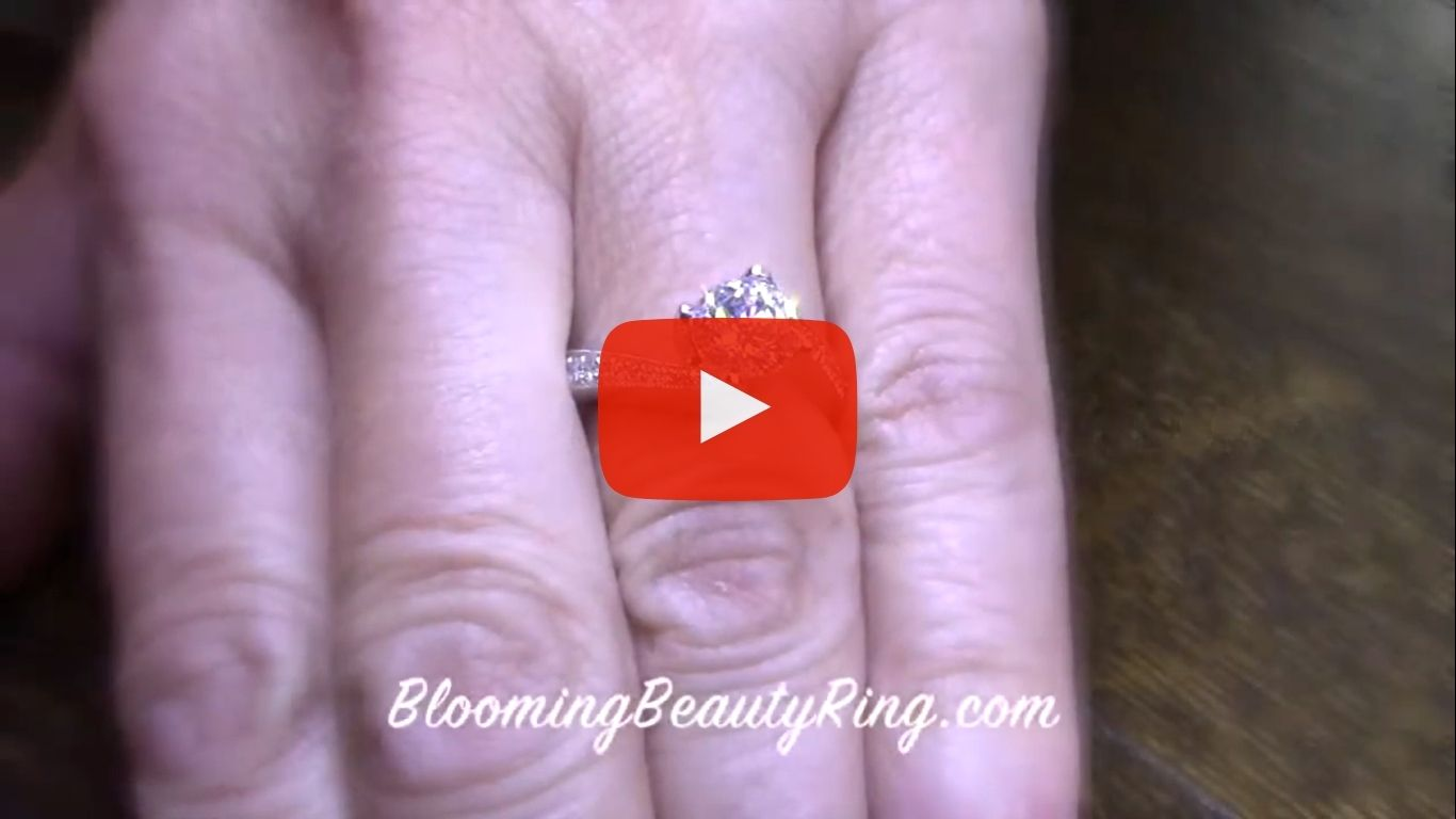 European Round Spiral Style Band With a Curved Twist Engagement Ring – bbr447 on the finger video