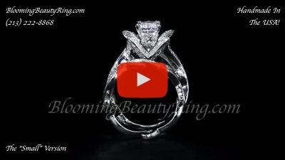 The Lotus Swan 1ct. Diamond Engagement Flower Ring – bbr630set standing up video
