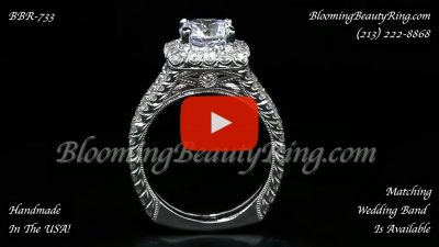Breathtaking 1.60 ctw Diamond Engagement Ring Handmade In The USA To Perfection bbr733 standing up video