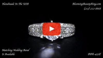 5 Sided 10 Column Engagement Ring – Unlike Anything You Have Ever Seen – with Hundreds Of Diamonds – bbr455 laying down video