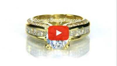 Fluid Round and Princess Channel Set Curved 4 Prong Diamond Engagement Ring – bbr393 laying down video