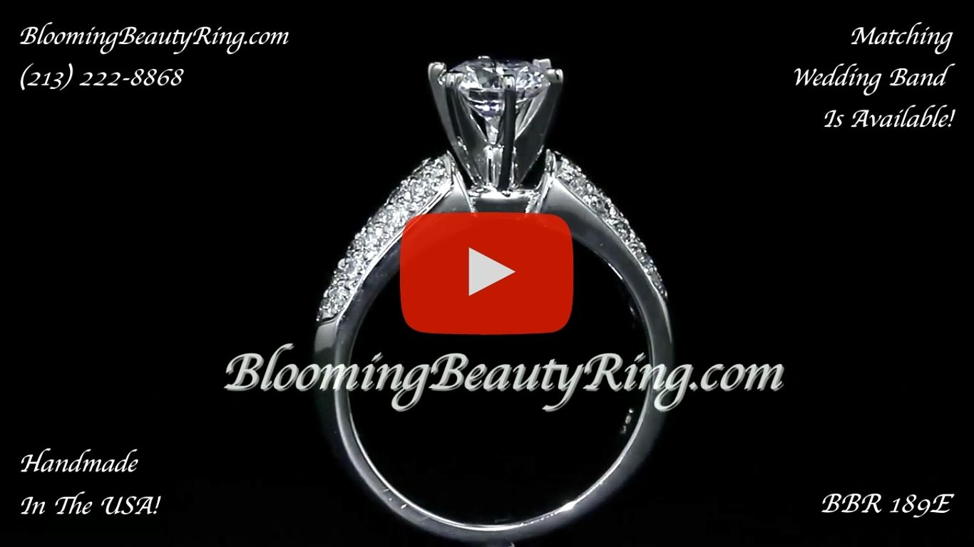 High Quality 6 Prong Modified Cathedral Engagement Setting – bbr189e standing up video