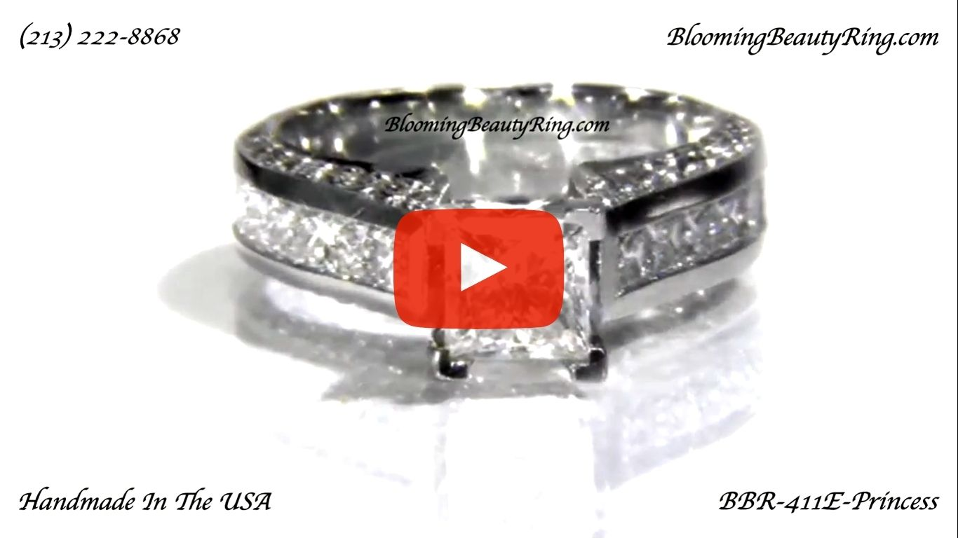 Best Selling Tiffany Style Princess Diamond Engagement Ring with Big Diamonds – bbr411 laying down video