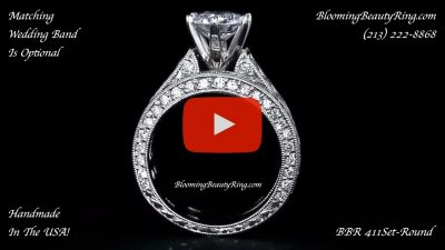 2.90 ctw. 14K Gold Diamond Engagement Ring Set – nrd411eb-1 standing up video