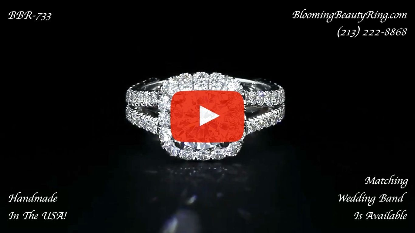 Breathtaking 1.60 ctw Diamond Engagement Ring Handmade In The USA To Perfection bbr733 laying down video
