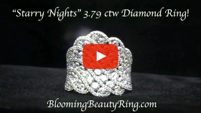 Starry Nights 3.76 ctw. Round Diamond and White Gold Fashion Ring – bbr777 laying down video