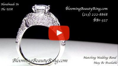 The Eternal Embrace Diamond Engagement Ring – bbr327 standing up video