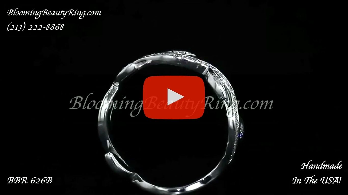 0.50 ctw. Matching Wedding Band BBR-626B standing up video