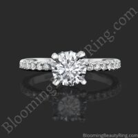 0.50 ctw Diamond Engagement Ring BBR-738E laying down