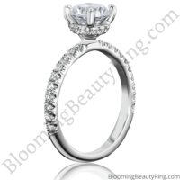 0.50 ctw Diamond Engagement Ring BBR-738E standing up no background