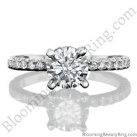 0.50 ctw Diamond Engagement Ring BBR-738E laying down no background
