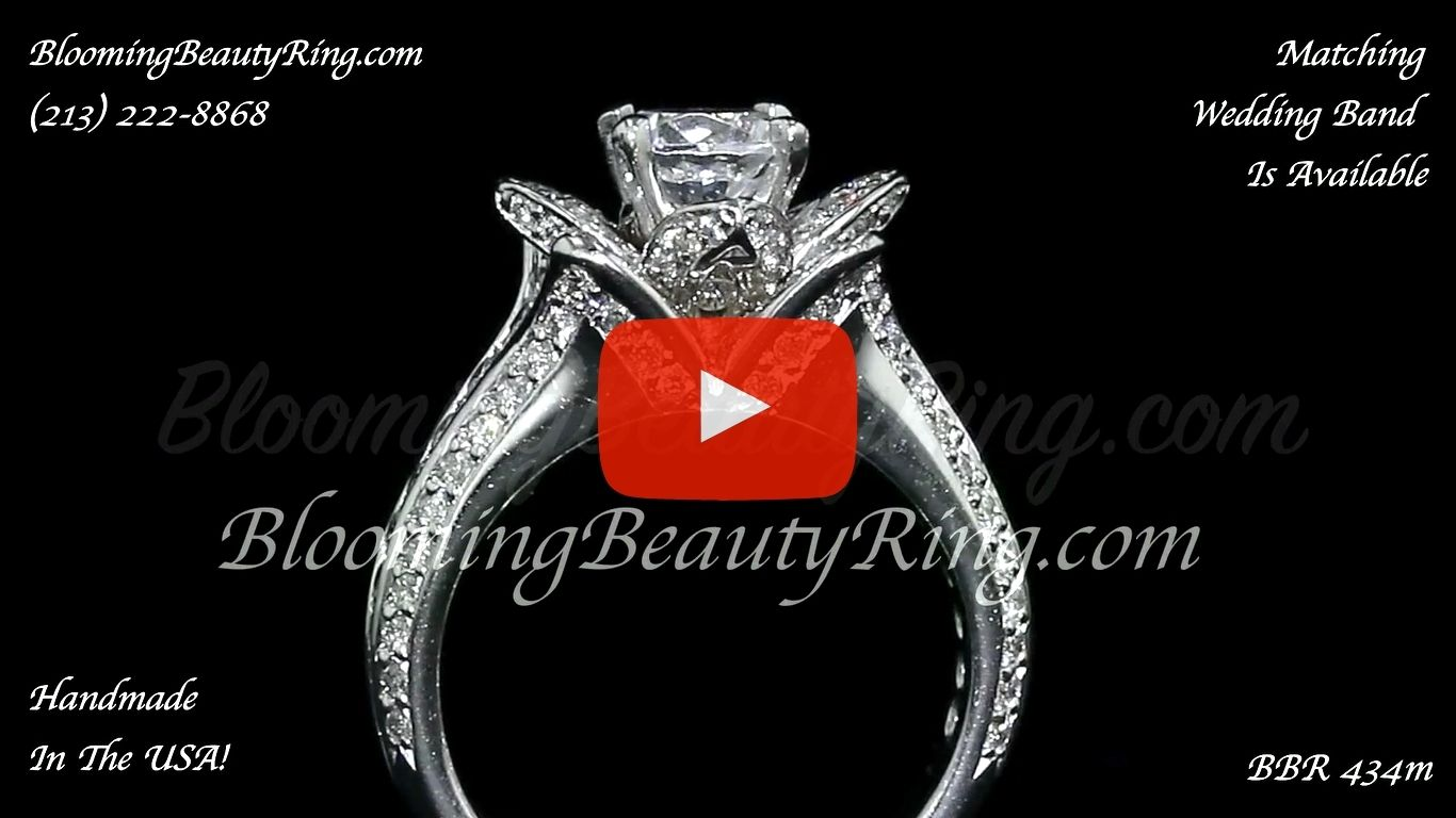 1.38 ctw. Original Small Blooming Beauty Flower Ring – bbr434m close up standing up video
