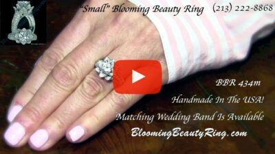 1.38 ctw. Original Small Blooming Beauty Flower Ring – bbr434m on the finger video