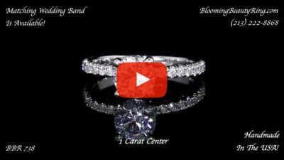 .50 ctw Diamond Engagement Ring BBR-738E laying down video