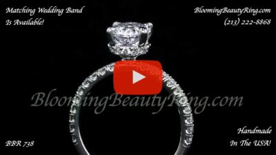 .50 ctw Diamond Engagement Ring BBR-738E standing up close up video]