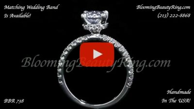 .50 ctw Diamond Engagement Ring BBR-738E standing up video