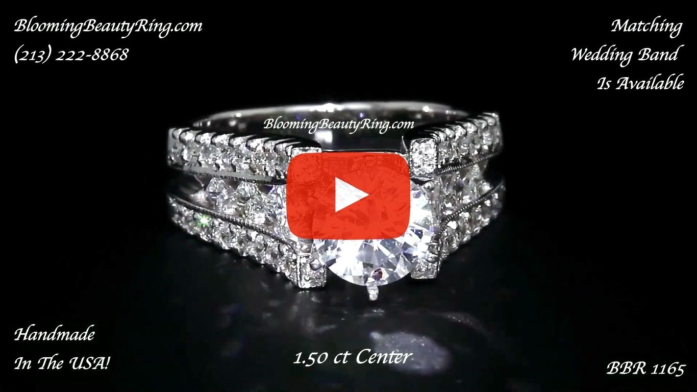Diamonds On The Tips Modified 6 Prong Cathedral Split Band Princess Cut Ring – bbr1165 laying down new video