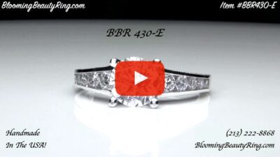 Vintage Inspired Half Circle Tapered Diamond Engagement Ring – bbr430 laying down video