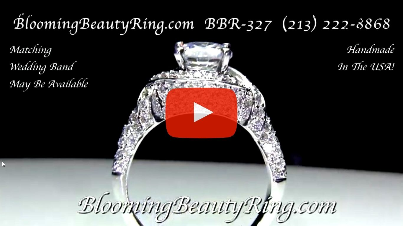 The Eternal Embrace Diamond Engagement Ring – bbr327 standing up