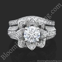 Flower Ring Polished Laying Down