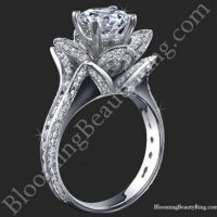 1.78 ctw. Blooming Beauty Flower Ring White Background Small