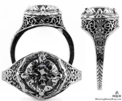 098bbr vintage filigree rings